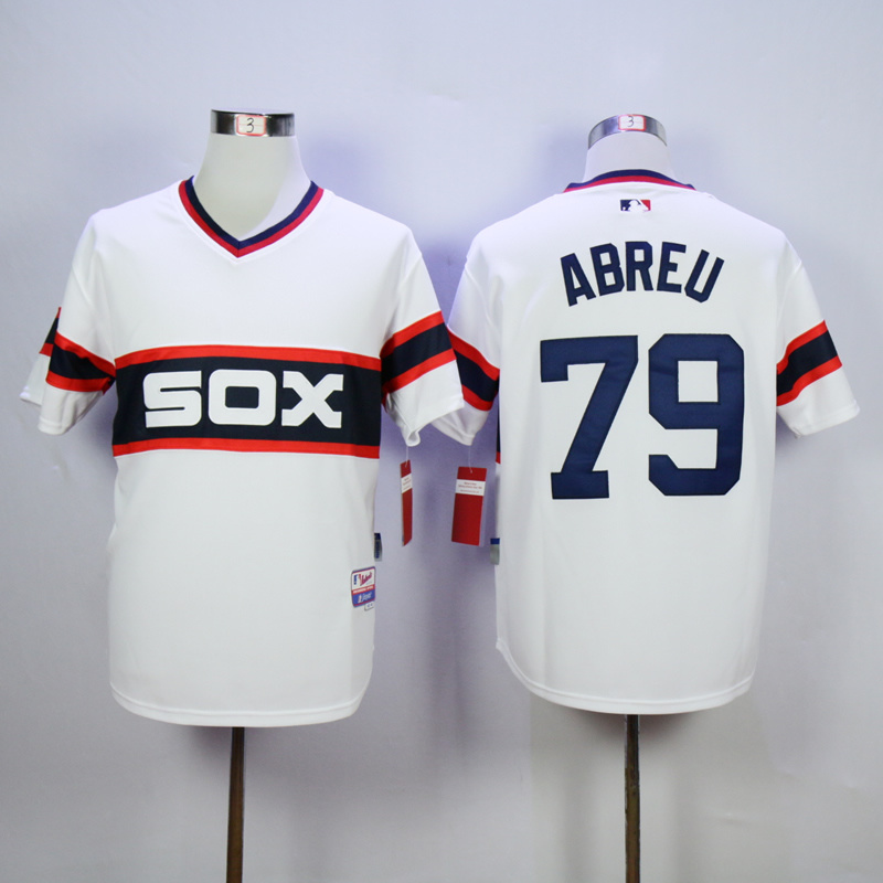 MLB Chicago White Sox 79 Jose Abreu White Jerseys.
