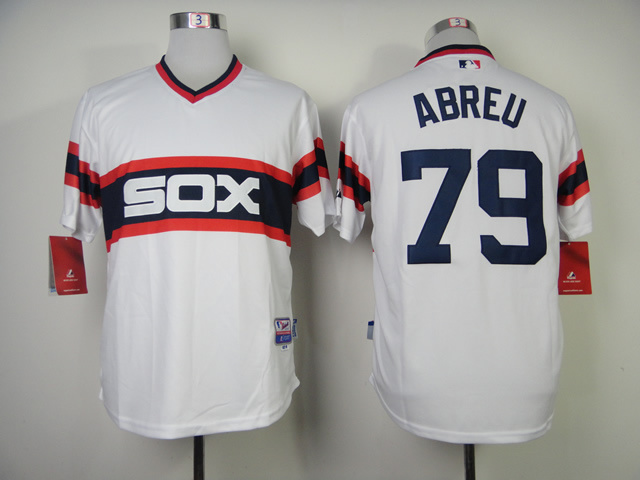 MLB Chicago White Sox 79 jose abreu Home Cool Base Jersey