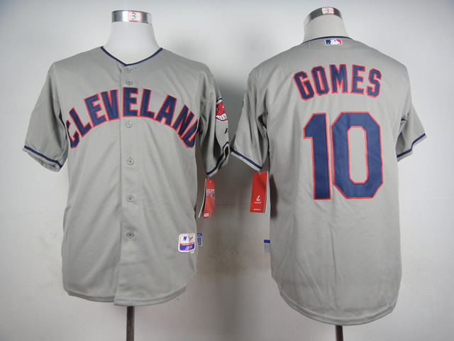 MLB Cleveland Indians 10 Gomes Grey 2015 Jerseys