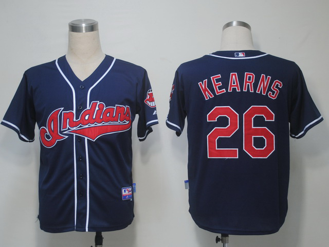 MLB Cleveland Indians 26 Kearns Blue Jerseys
