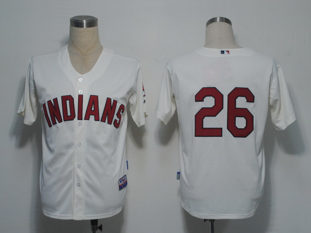 MLB Cleveland Indians 26 Kearns Gream Jerseys