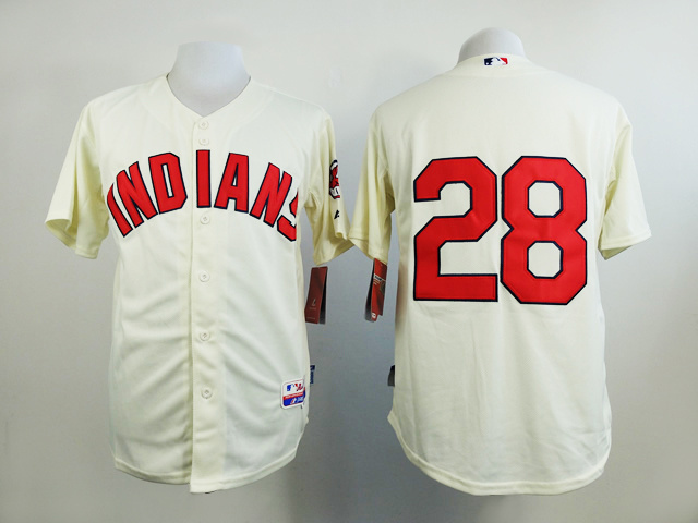 MLB Cleveland Indians 28 Gream 2015 Jerseys