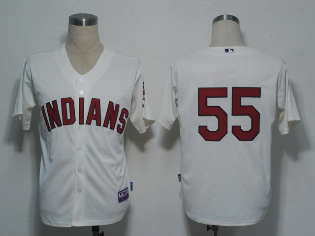MLB Cleveland Indians 55 Carmona Gream Jerseys