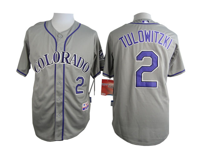 MLB Colorado Rockies 2 Troy Tulowitzki Grey 2015 Jerseys