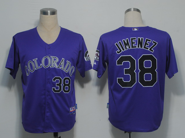MLB Colorado Rockies 38 jimemez Purple Jerseys