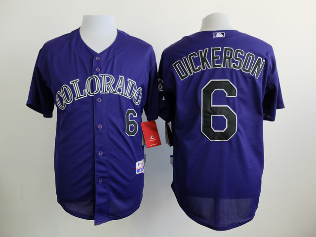 MLB Colorado Rockies 6 Dickerson Purple 2015 Jerseys