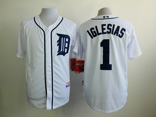 MLB Detroit Tigers 1 Iglesias White 2015 Jerseys