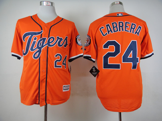 MLB Detroit Tigers 24 Miguel Cabrera Orange 2015 Jerseys