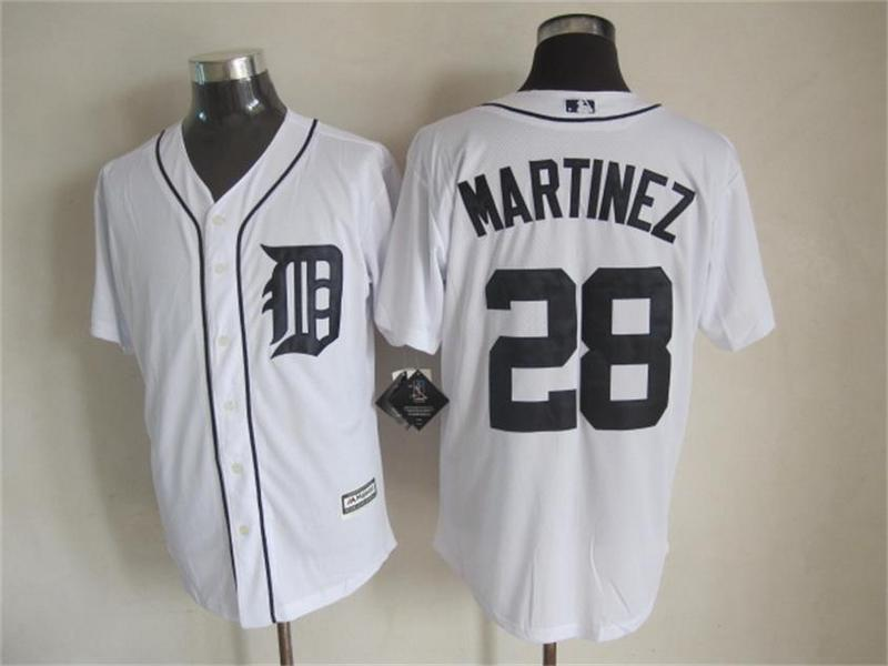 MLB Detroit Tigers 28 Martinez White 2015 Jerseys