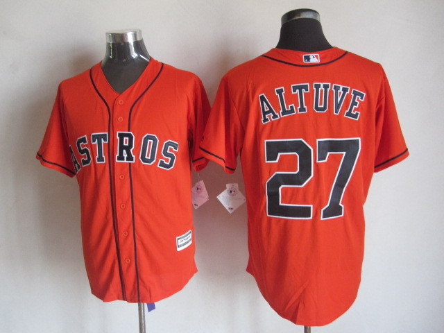 MLB Houston Astros 27 Altuve Orange 2015 Jerseys
