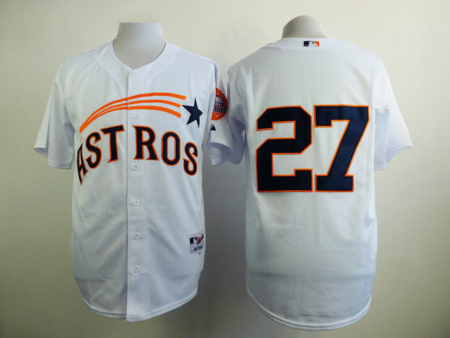 MLB Houston Astros 27 Jose Altuve White 1965 Turn Back The Clock