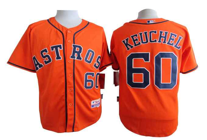 MLB Houston Astros 60 Keuchel Orange 2015 Jerseys