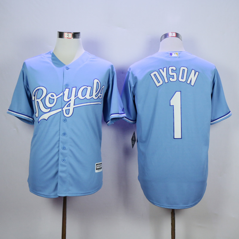 MLB Kansas City Royals 1 Jarrod Dyson Light Blue 2015 Jerseys