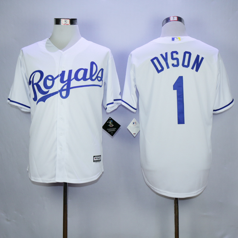 MLB Kansas City Royals 1 Jarrod Dyson White 2015 Jerseys
