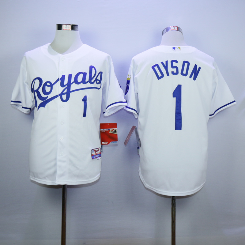 MLB Kansas City Royals 1 Jarrod Dyson White1 2015 Jerseys