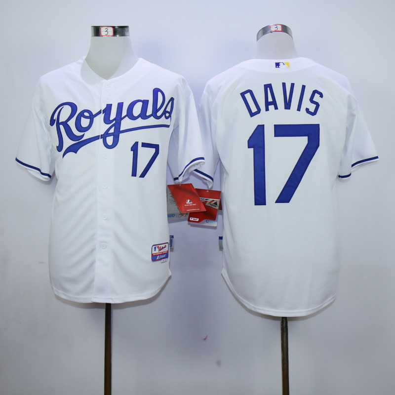 MLB Kansas City Royals 17 Davis White 2015 Jerseys