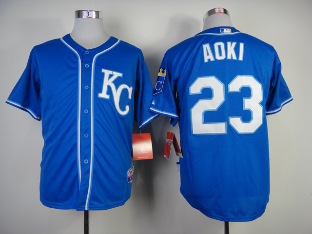 MLB Kansas City Royals 23 Aoki Dark Blue Jerseys
