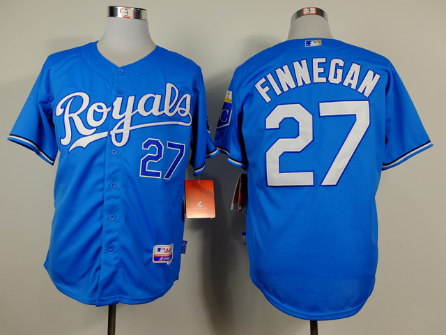 MLB Kansas City Royals 27 Brandon Finnegan Blue Jerseys