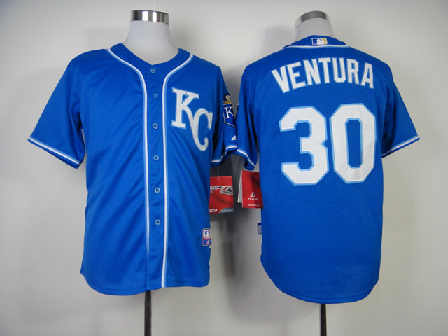 MLB Kansas City Royals 30 Yordano Ventura Blue Jerseys