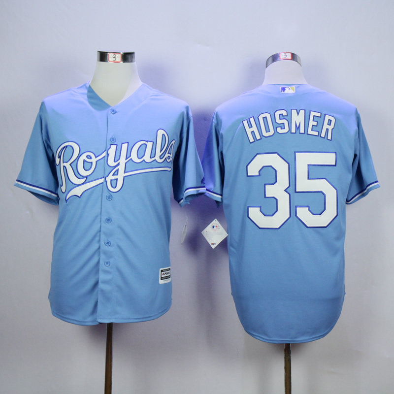 MLB Kansas City Royals 35 Eric Hosmer Light Blue 2015 Jerseys