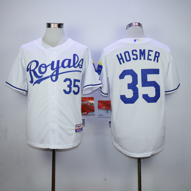 MLB Kansas City Royals 35 Eric Hosmer White 2015 Jerseys