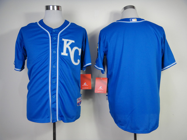 MLB Kansas City Royals Blank Blue Jerseys