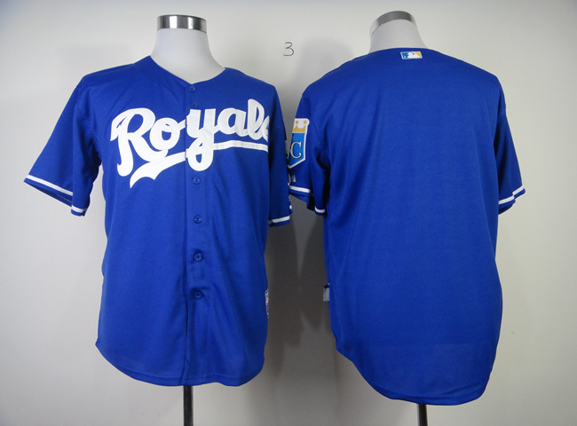 MLB Kansas City Royals Blank Blue1 Jerseys