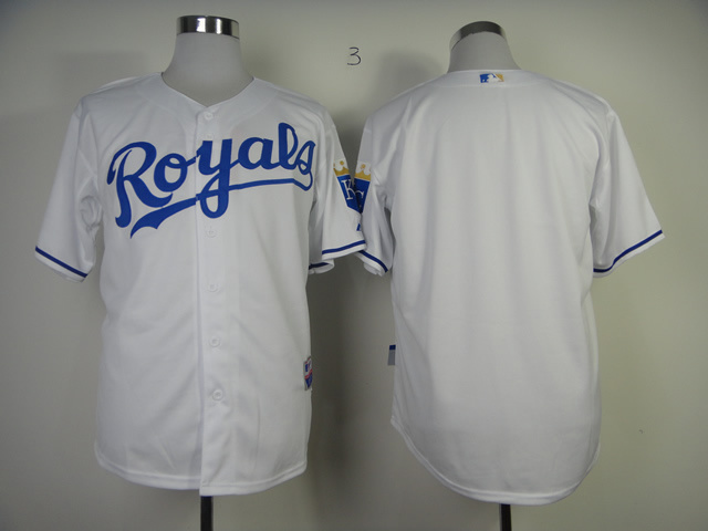 MLB Kansas City Royals Blank White Jerseys