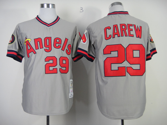 MLB Los Angeles Angels 29 Rod Carew Grey MN 1985 Jersey