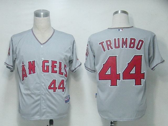 MLB Los Angeles Angels 44 Trumbo Grey Jerseys