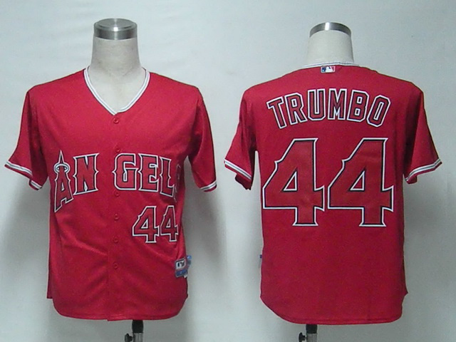 MLB Los Angeles Angels 44 Trumbo Red Jerseys