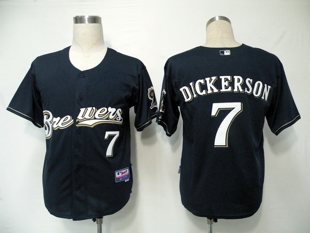 MLB Milwaukee Brewers 7 Dickerson Blue Jerseys