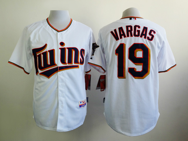 MLB Minnesota Twins 19 Vargas White 2015 Jerseys