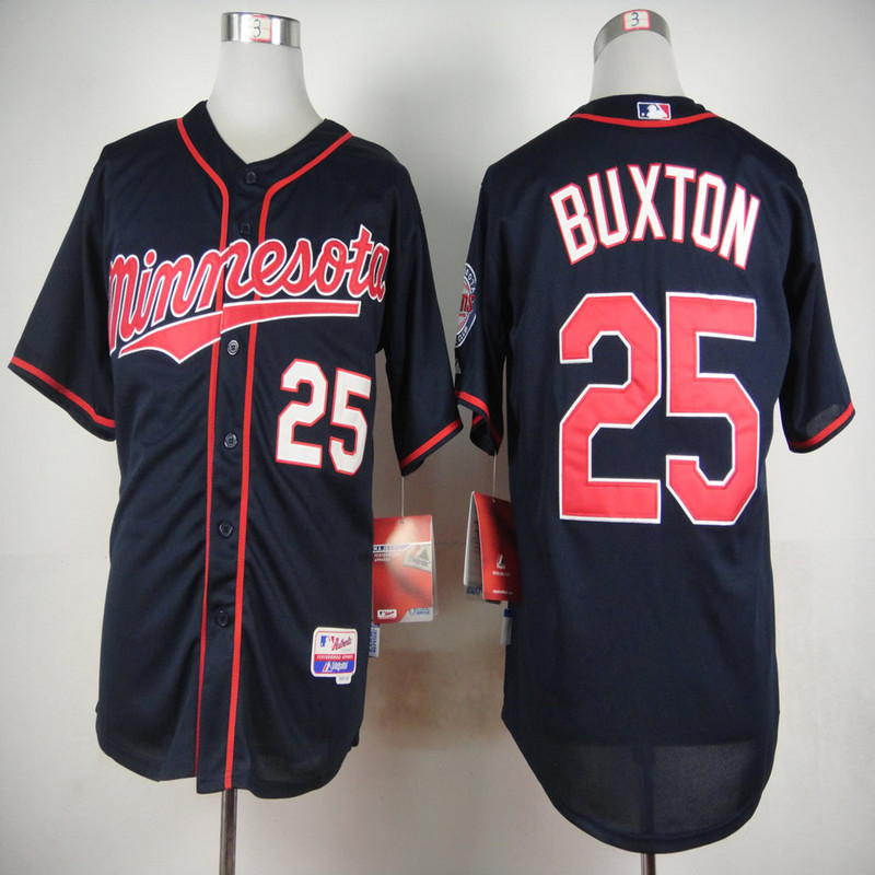 MLB Minnesota Twins 25 Byron Buxton Blue 2015 Jerseys