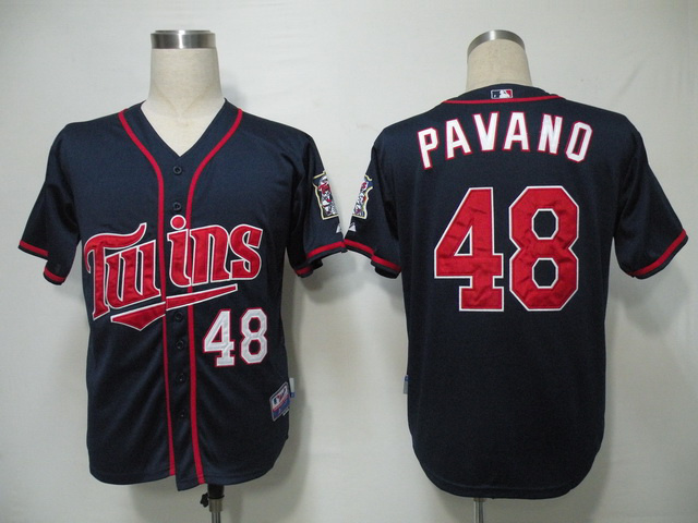 MLB Minnesota Twins 48 Pavano Blue Jerseys