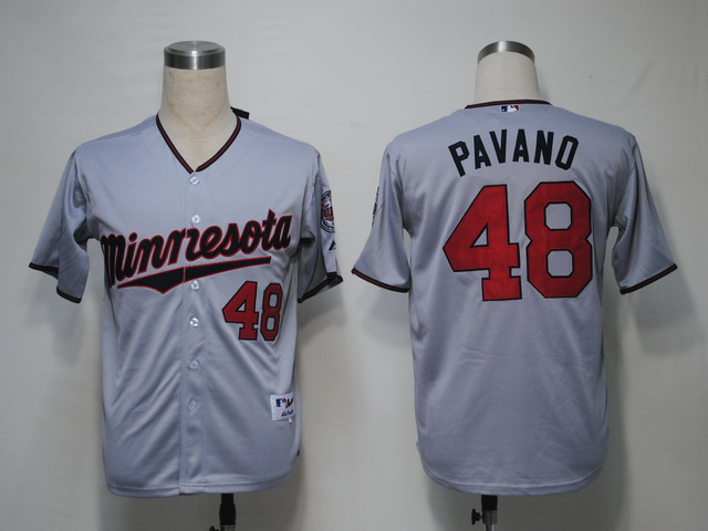 MLB Minnesota Twins 48 Pavano Grey Jerseys