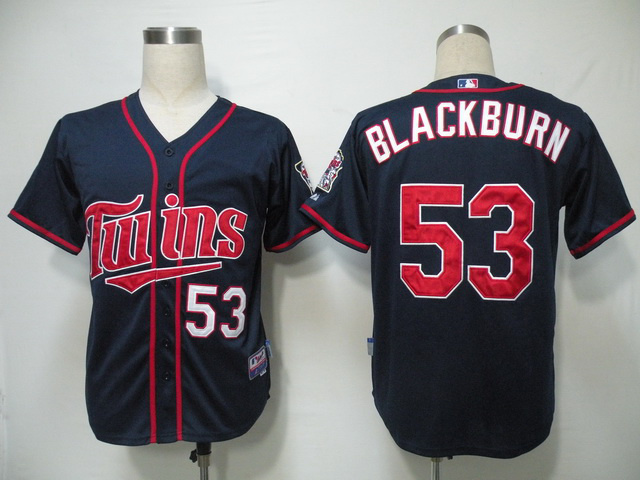 MLB Minnesota Twins 53 Blackburn Blue Jerseys
