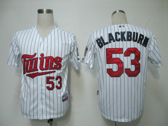 MLB Minnesota Twins 53 Blackburn White Jerseys