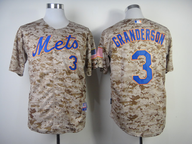 MLB New York Mets 3 Curtis Granderson Camo Jerseys