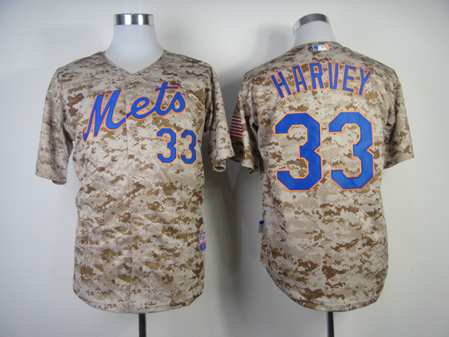 MLB New York Mets 33 Matt Harvey Camo Jerseys