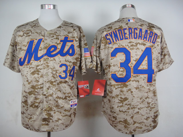 MLB New York Mets 34 Noah Syndergaard Camo 2015 Jerseys