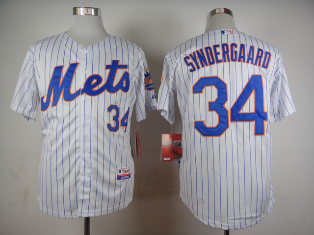 MLB New York Mets 34 Noah Syndergaard White 2015 Jerseys