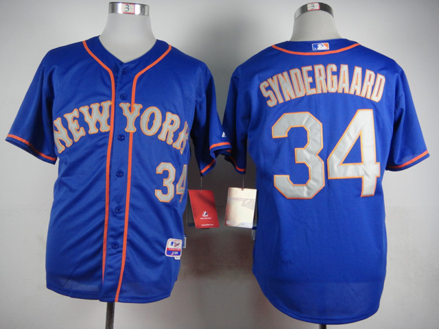 MLB New York Mets 34 Syndergaard Blue 2015 Jerseys
