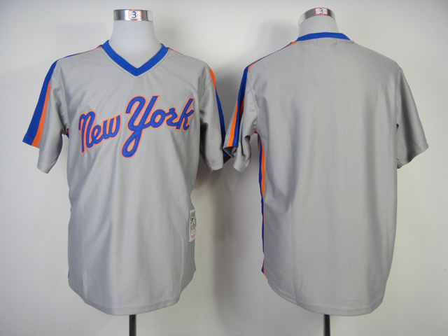 MLB New York Mets Blank Grey Jerseys