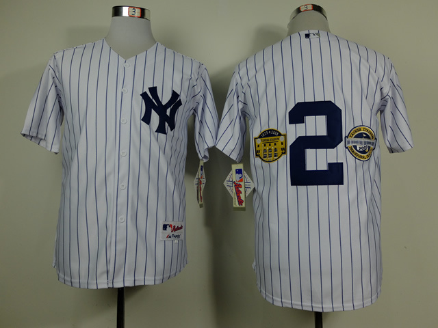 MLB New York Yankees 2 Derek Jeter wCommemorative Final Season Inaugural Season Retirement Patch