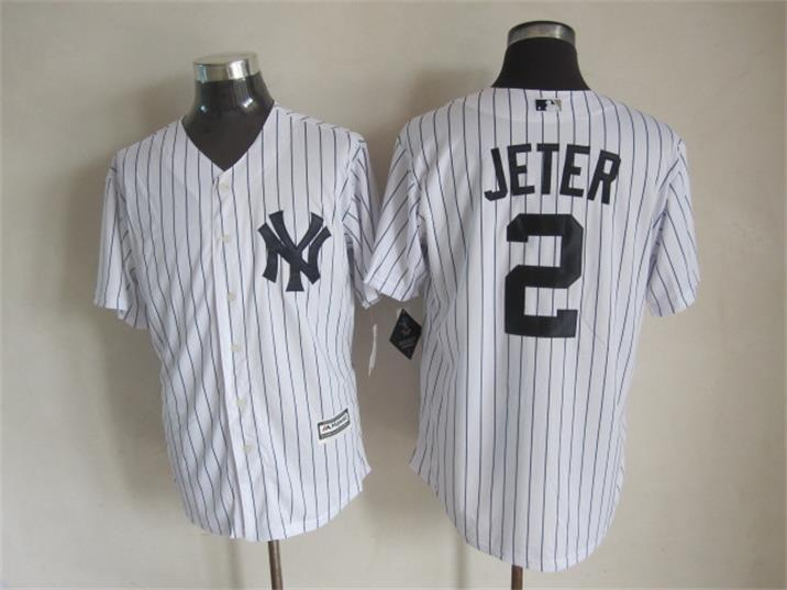 MLB New York Yankees 2 Jeter White 2015 Jerseys