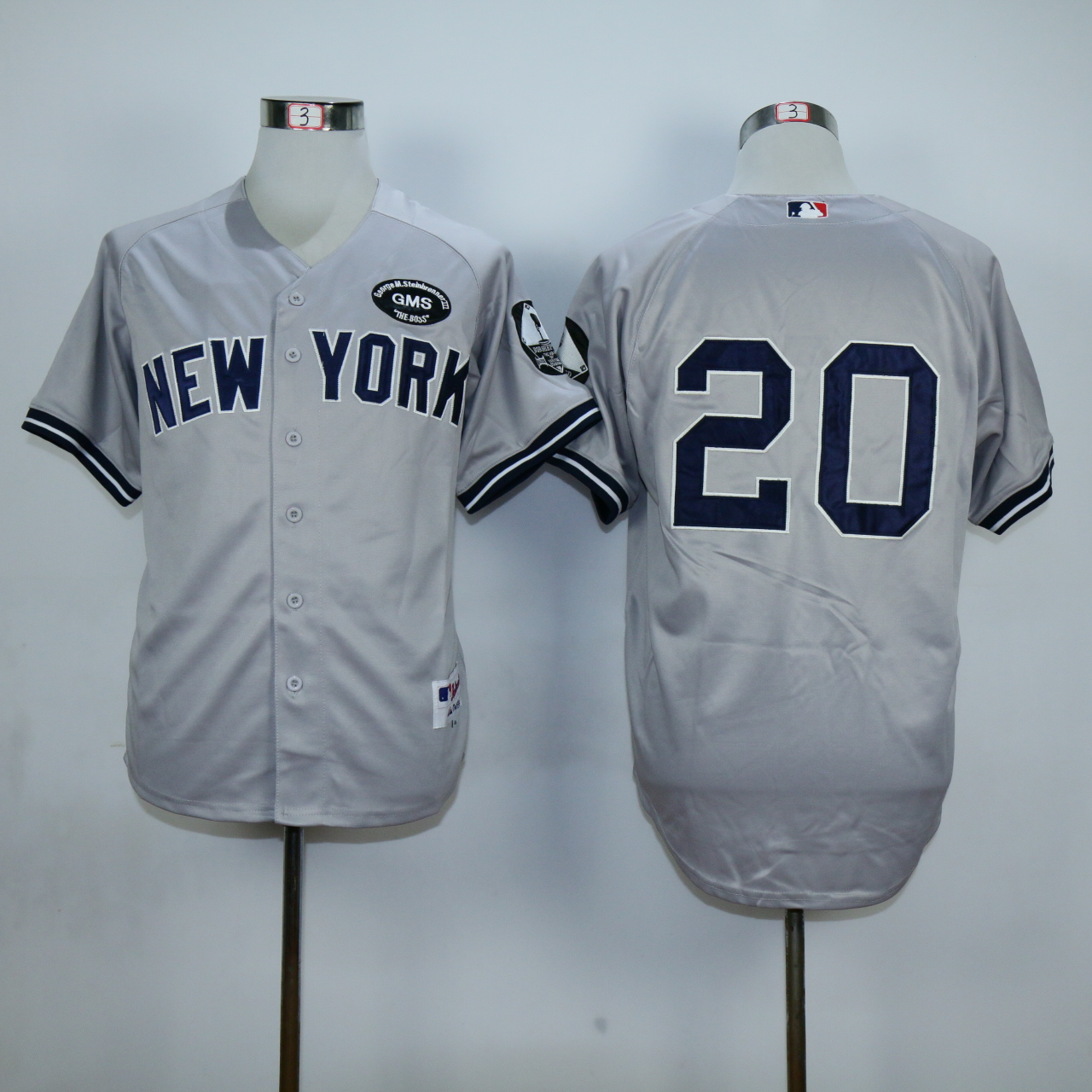 MLB New York Yankees 20 Posada gray Jersey