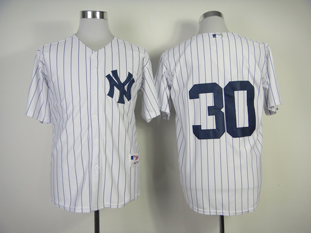 MLB New York Yankees 30 David Robertson White Jerseys