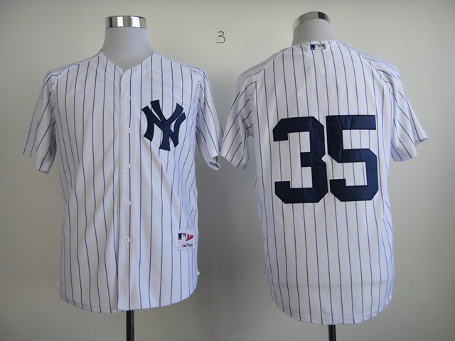 MLB New York Yankees 35 Michael Pineda White Jerseys