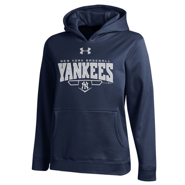 MLB New York Yankees Script Baseball Pullover Hoodie – Navy Blue